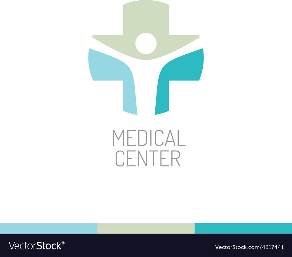 Medical center logo template vector