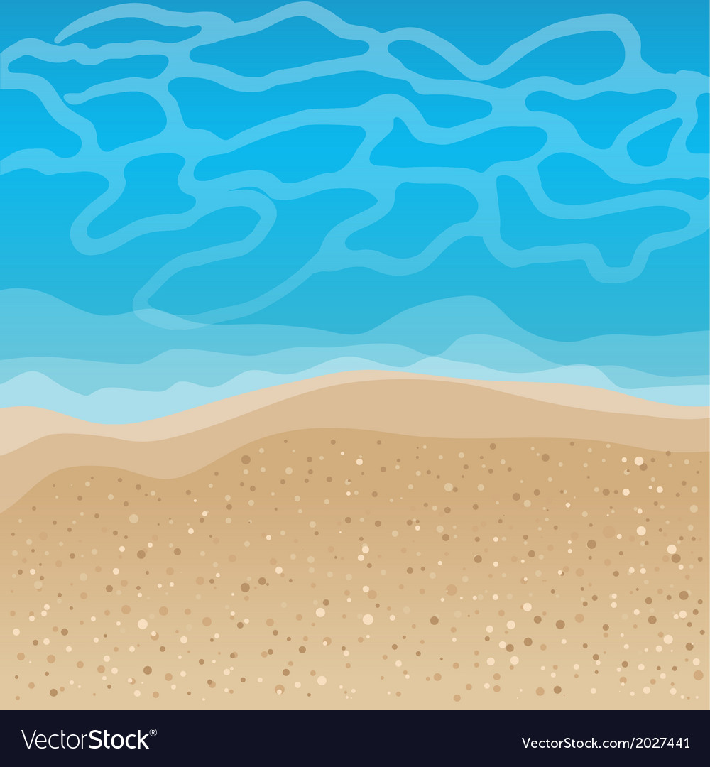 Seaside background vector | Price: 1 Credit (USD $1)