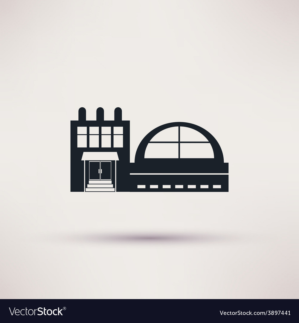 Swimming pool the building is an icon flat vector | Price: 1 Credit (USD $1)