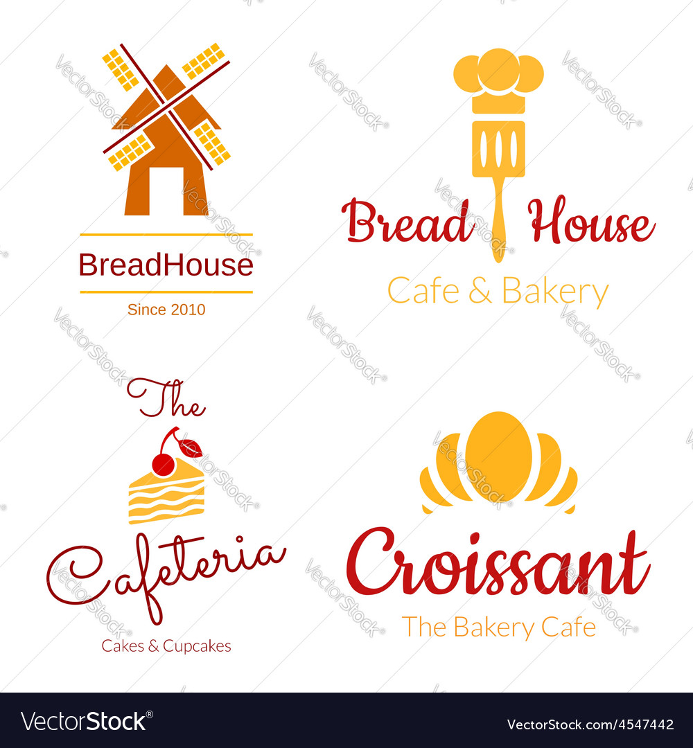 Bakery logo set vector | Price: 1 Credit (USD $1)