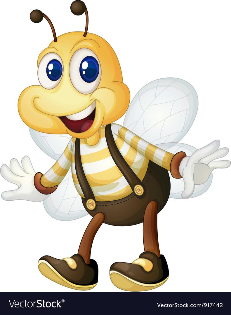 Bee man vector