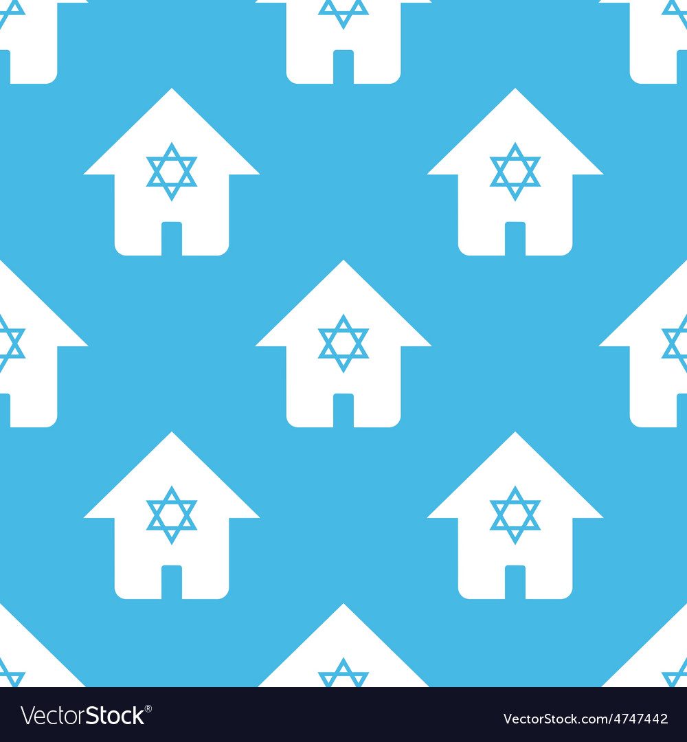 Blue judaic house pattern vector | Price: 1 Credit (USD $1)
