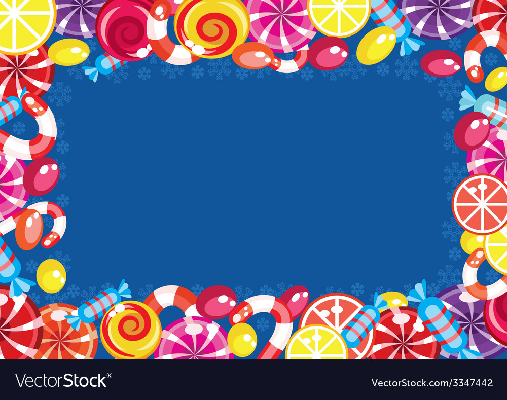 Christmas candy frame vector | Price: 1 Credit (USD $1)