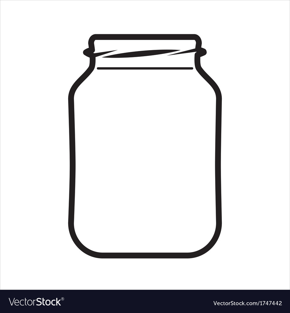 Empty jar vector | Price: 1 Credit (USD $1)
