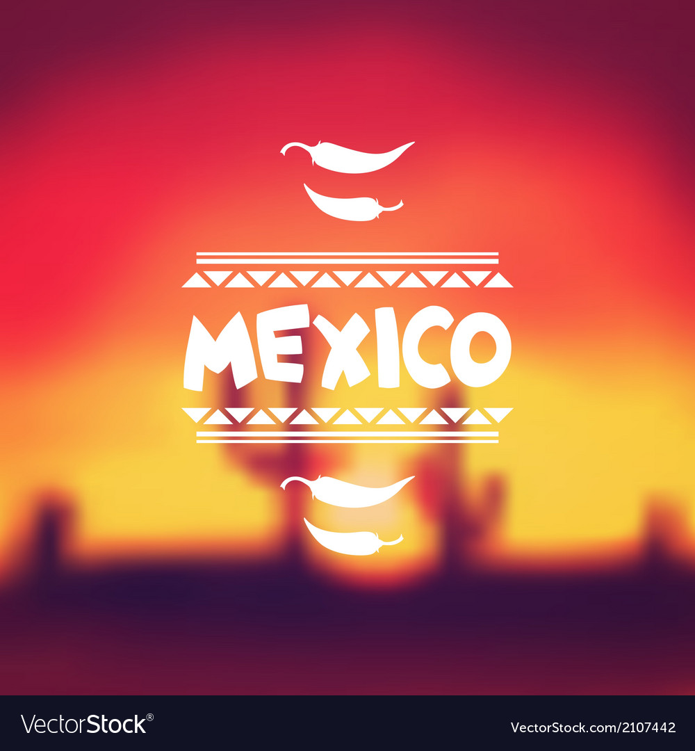 Ethnic mexican background design in native style vector   Price: 1 Credit (USD $1)