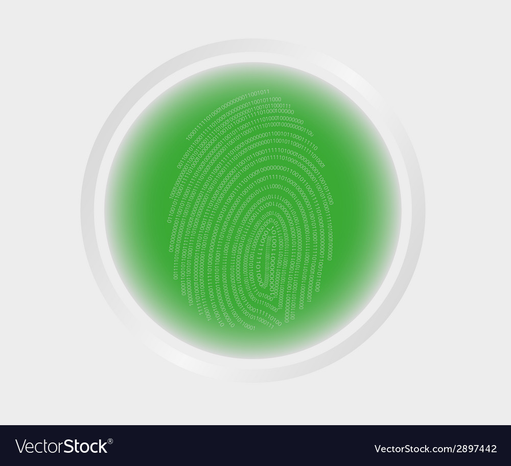 Fingerprint scanning vector | Price: 1 Credit (USD $1)