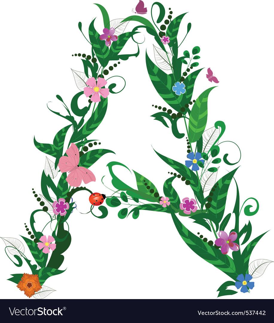 Flower letter vector   Price: 1 Credit (USD $1)