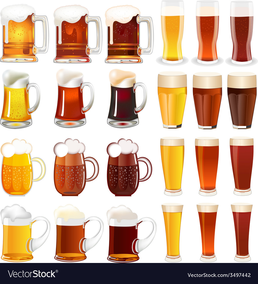 Light and dark beer vector | Price: 3 Credit (USD $3)