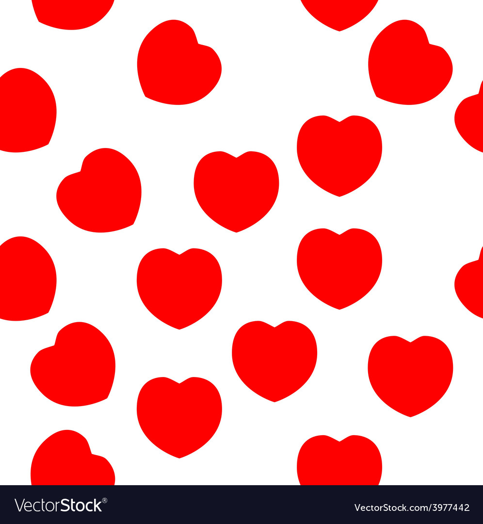 Red hearts repeat pattern - red and white vector | Price: 1 Credit (USD $1)