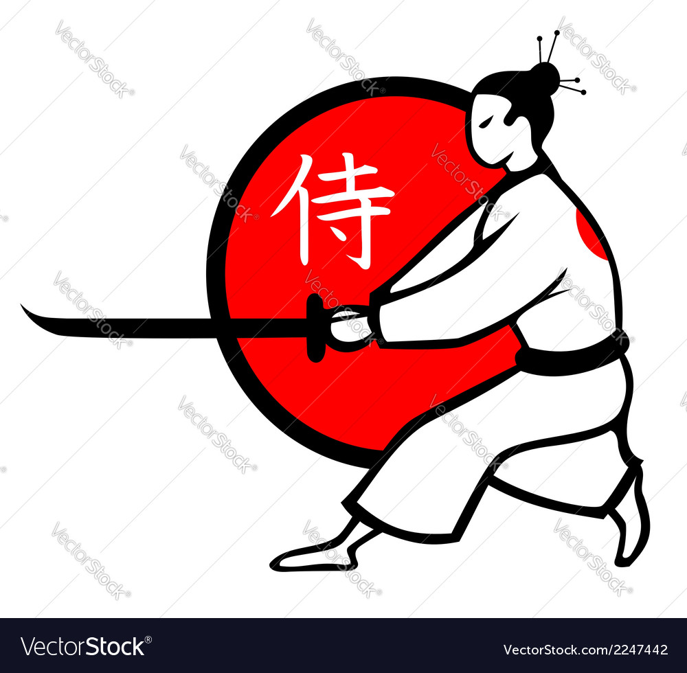 Samurai vector | Price: 1 Credit (USD $1)