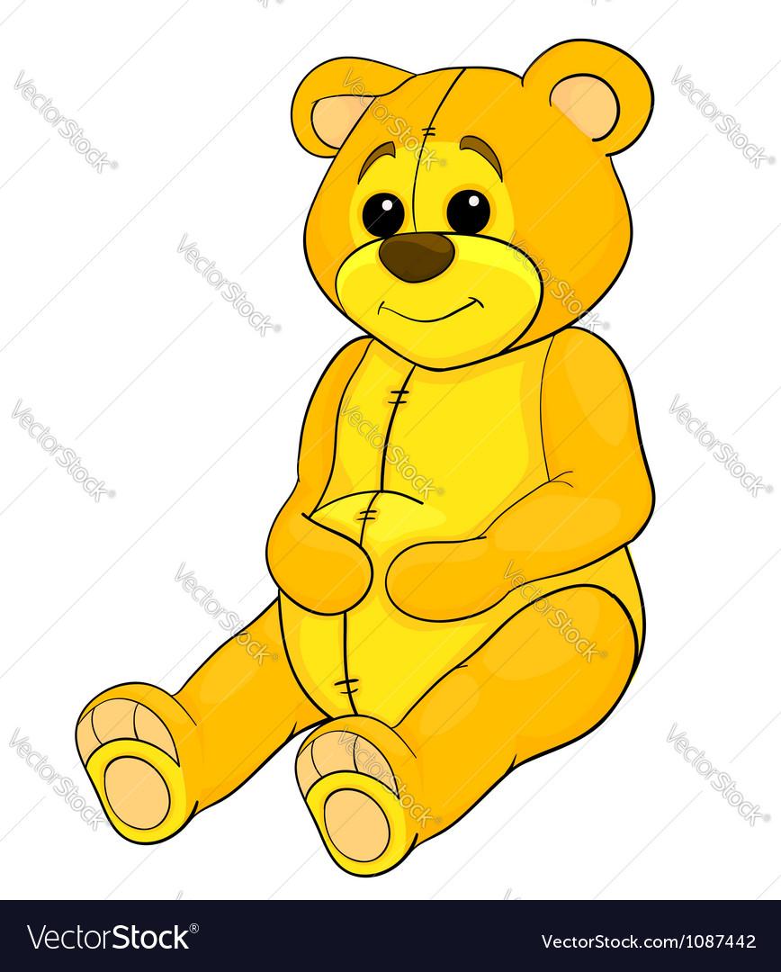 Teddy bear toy vector | Price: 1 Credit (USD $1)
