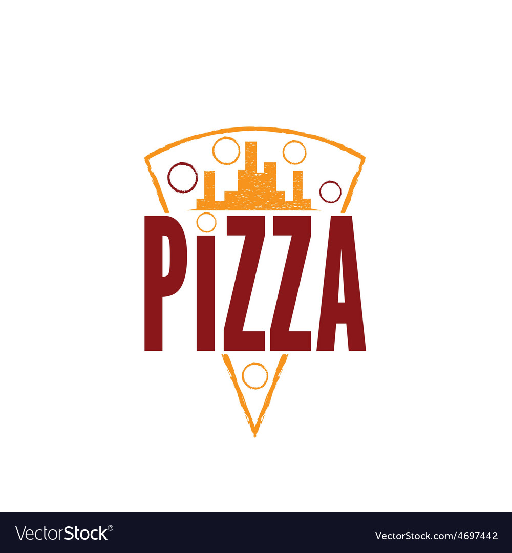 Urban pizza slice design template vector | Price: 1 Credit (USD $1)