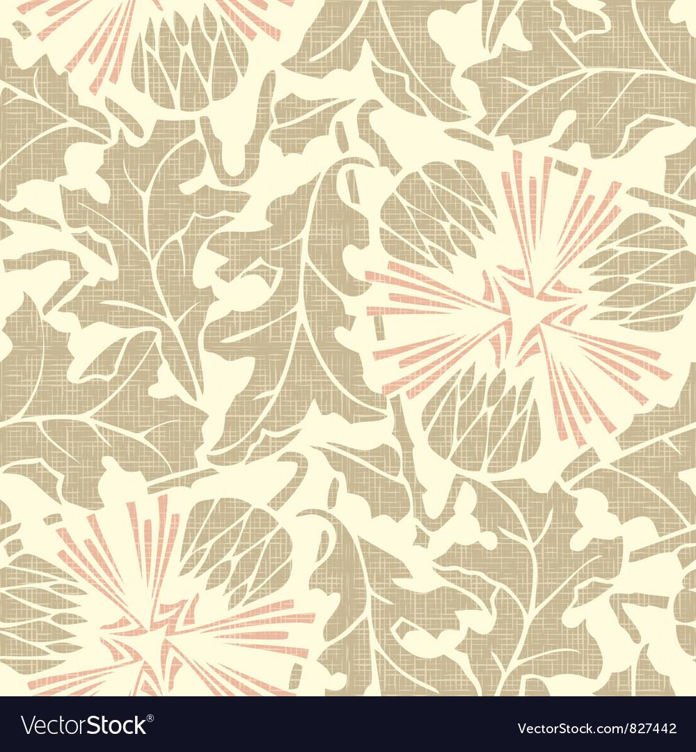 Vintage seamless floral background dandelion vector | Price: 1 Credit (USD $1)