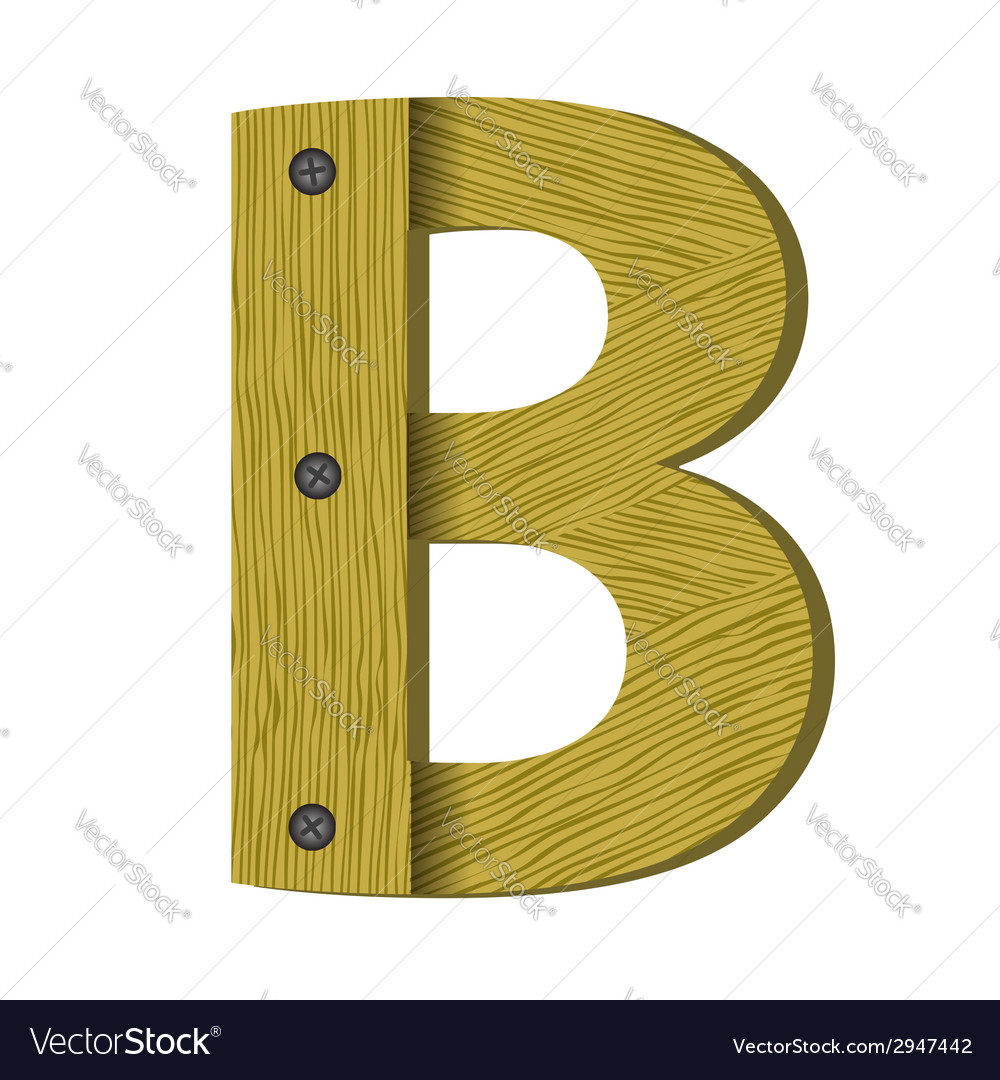 Wood letter b vector | Price: 1 Credit (USD $1)