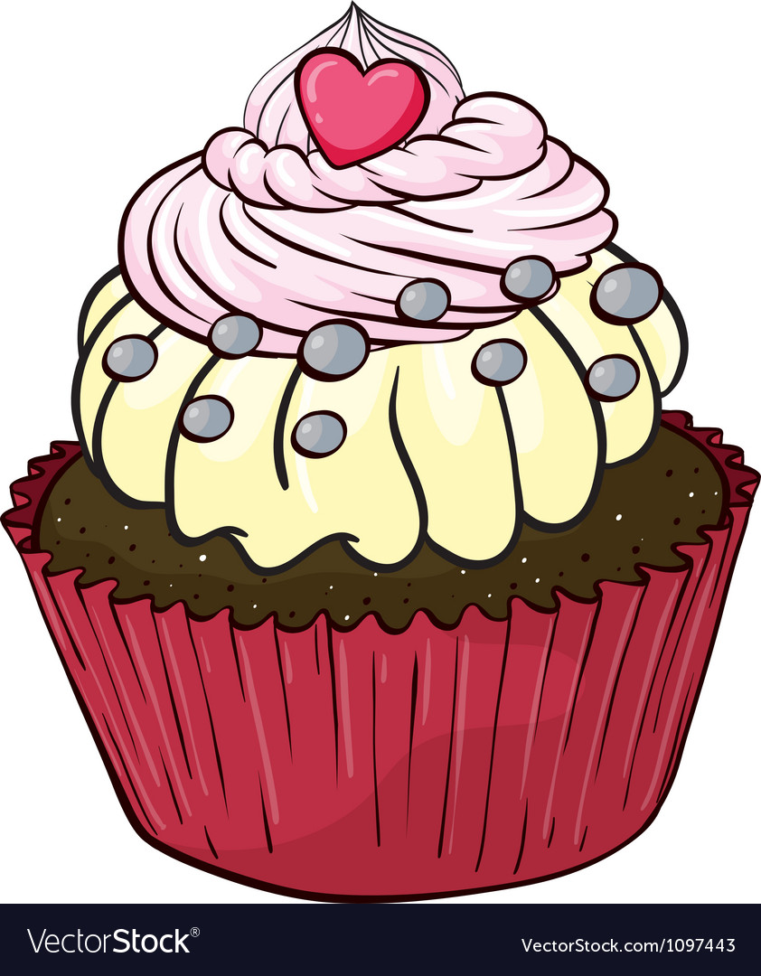 A cupcake vector | Price: 1 Credit (USD $1)