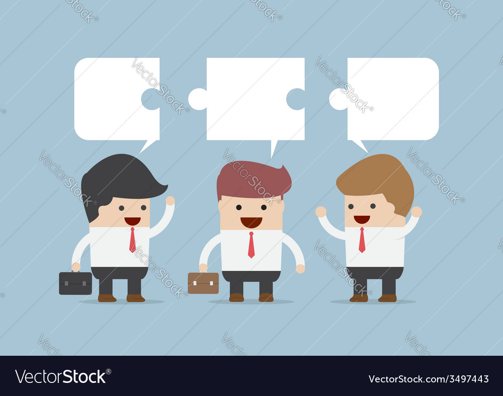 Businessman in conversation group of businessman vector | Price: 1 Credit (USD $1)