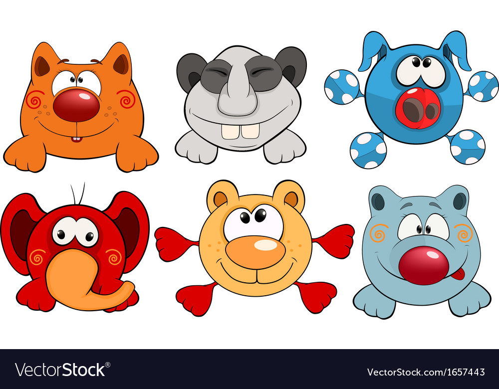 Cheerful childrens toys cartoon vector | Price: 1 Credit (USD $1)