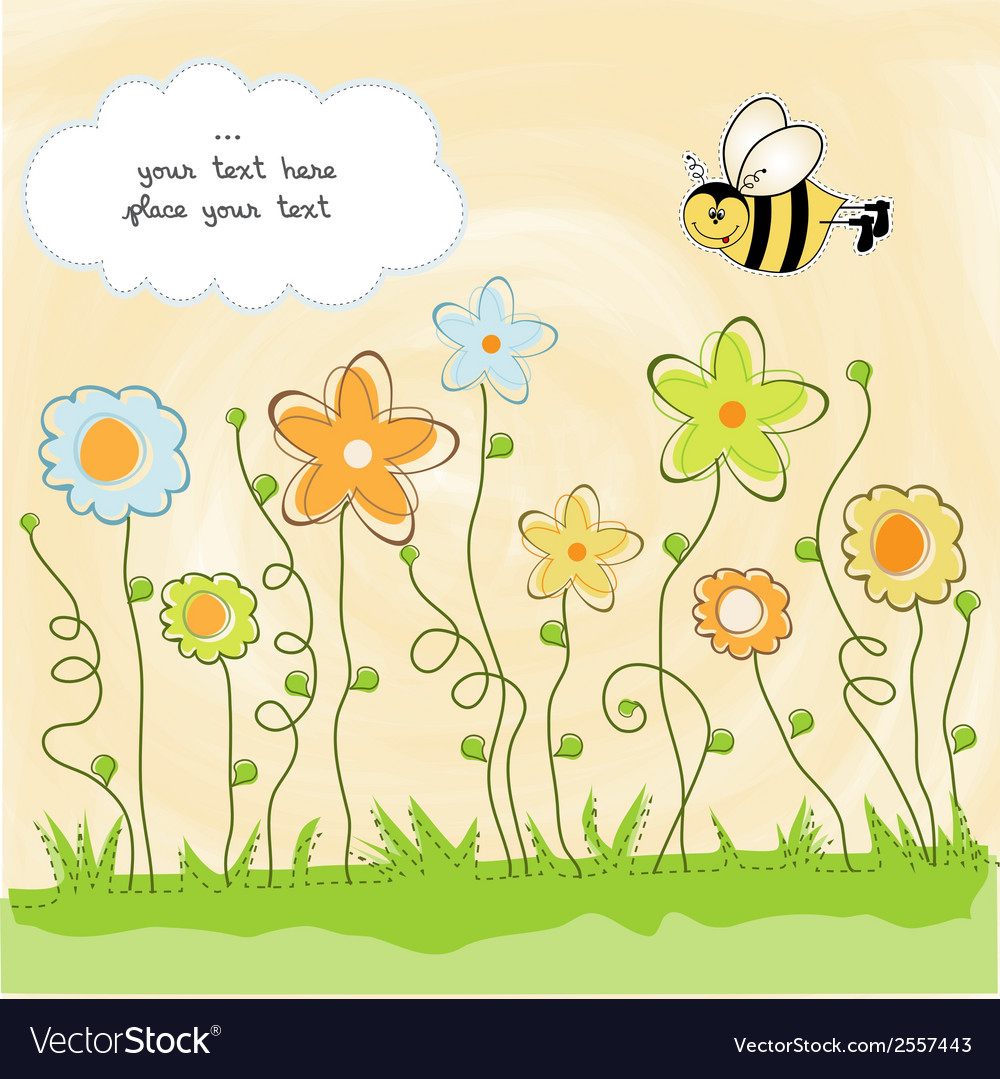 Cute floral background vector   Price: 1 Credit (USD $1)