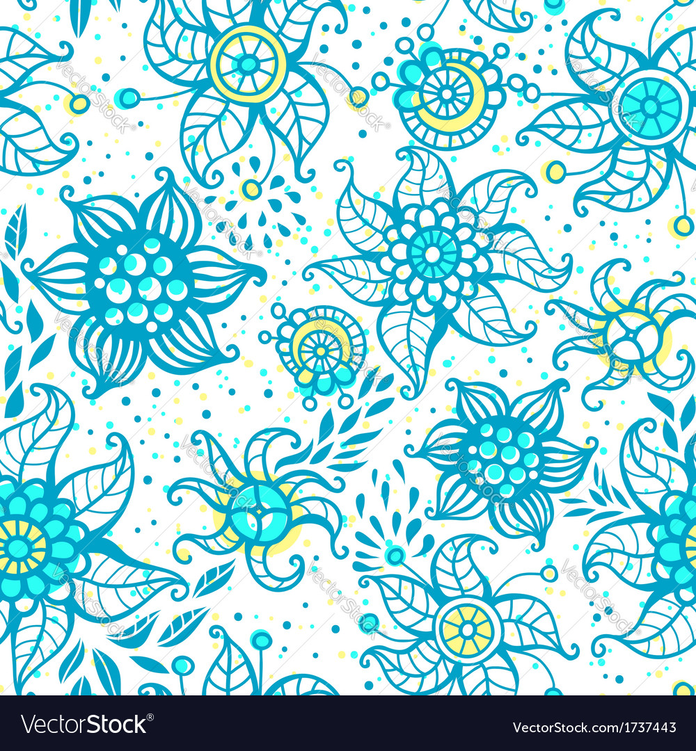 Cute floral seamless pattern vector | Price: 1 Credit (USD $1)