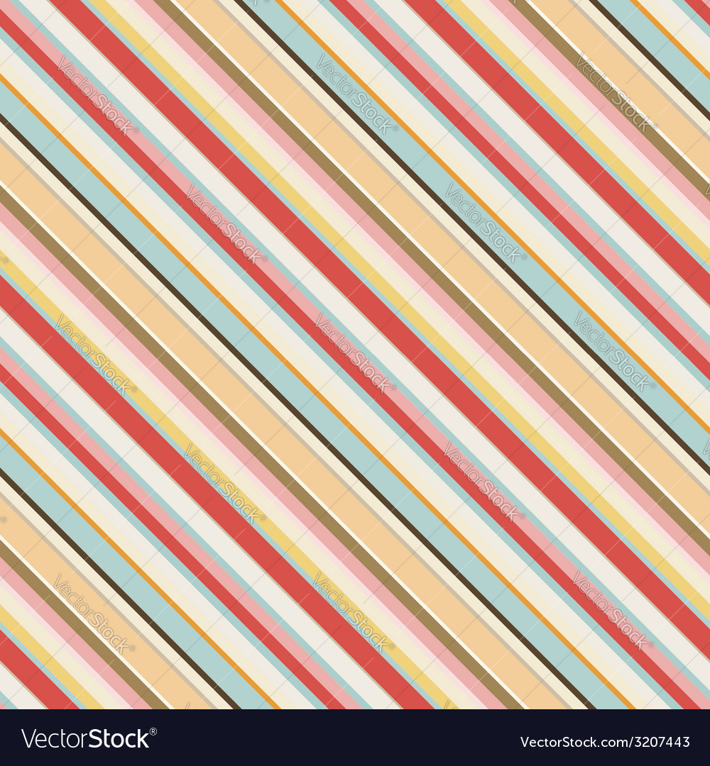 Diagonal striped seamless pattern in retro colors vector | Price: 1 Credit (USD $1)