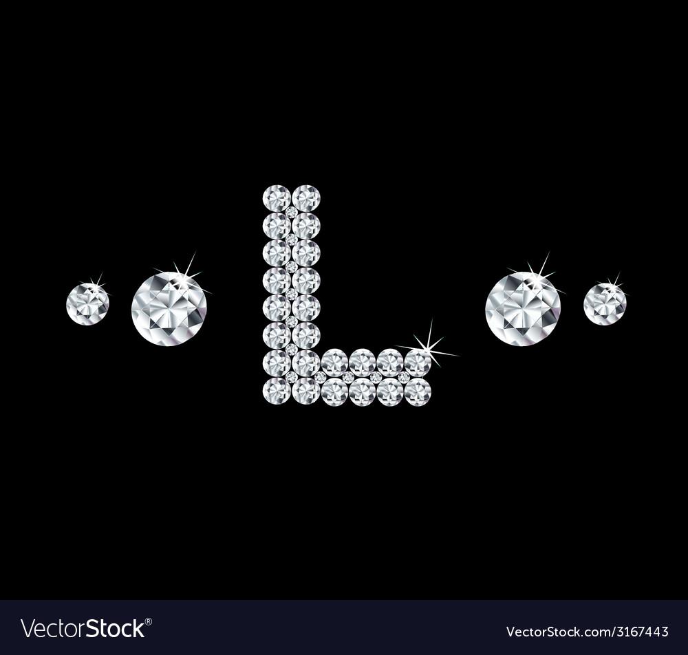 Diamond alphabetic letter l vector   Price: 1 Credit (USD $1)