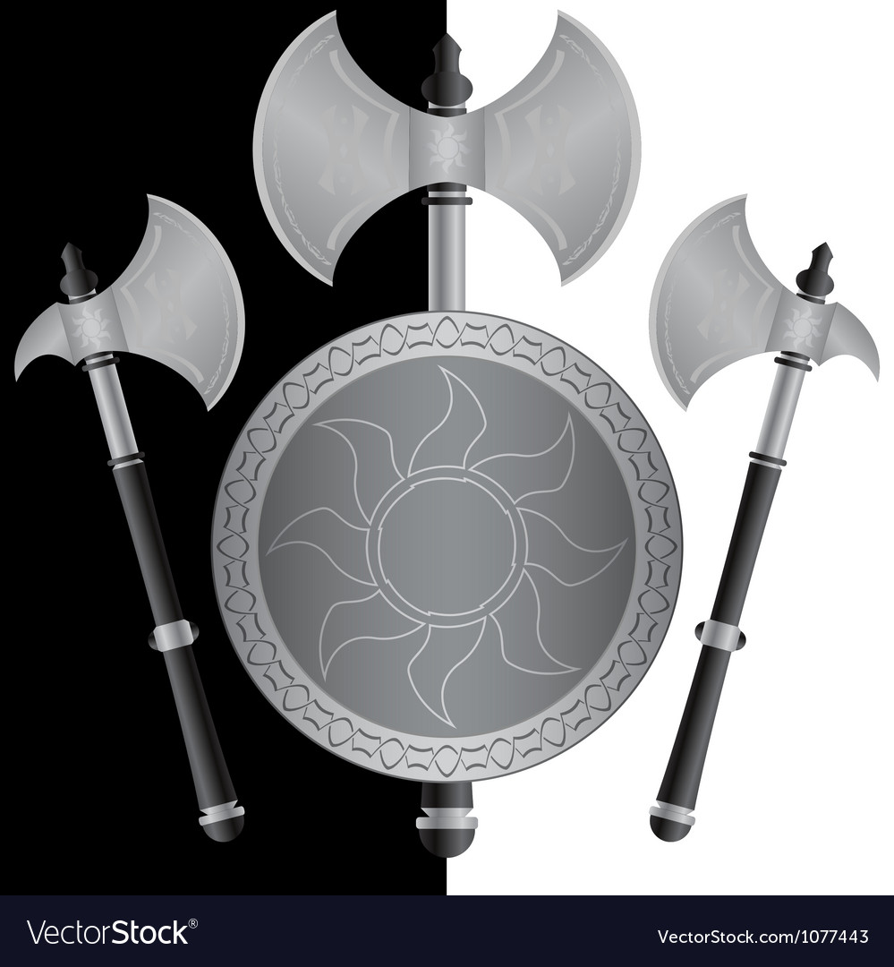 Fantasy shields and axes sixth variant vector | Price: 1 Credit (USD $1)