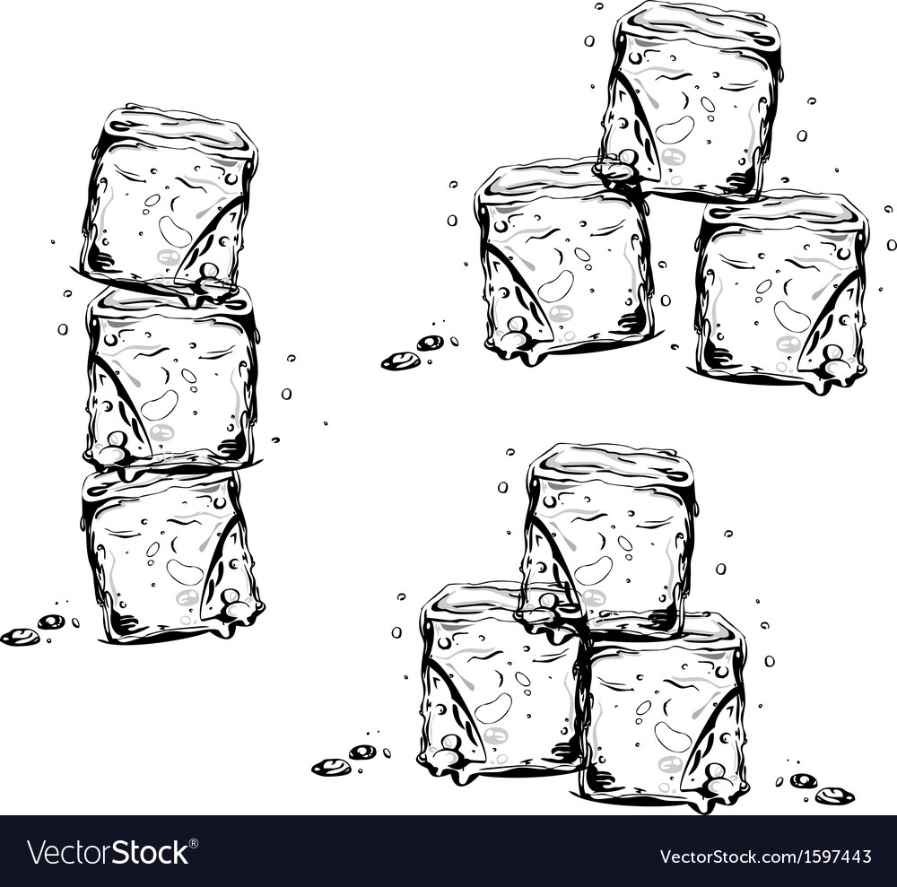 Ice cubes vector | Price: 1 Credit (USD $1)