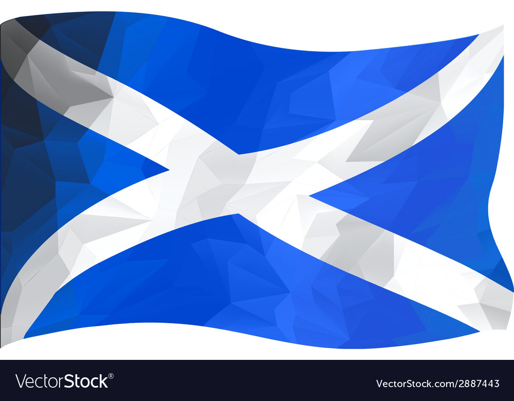 Scottish flag vector | Price: 1 Credit (USD $1)