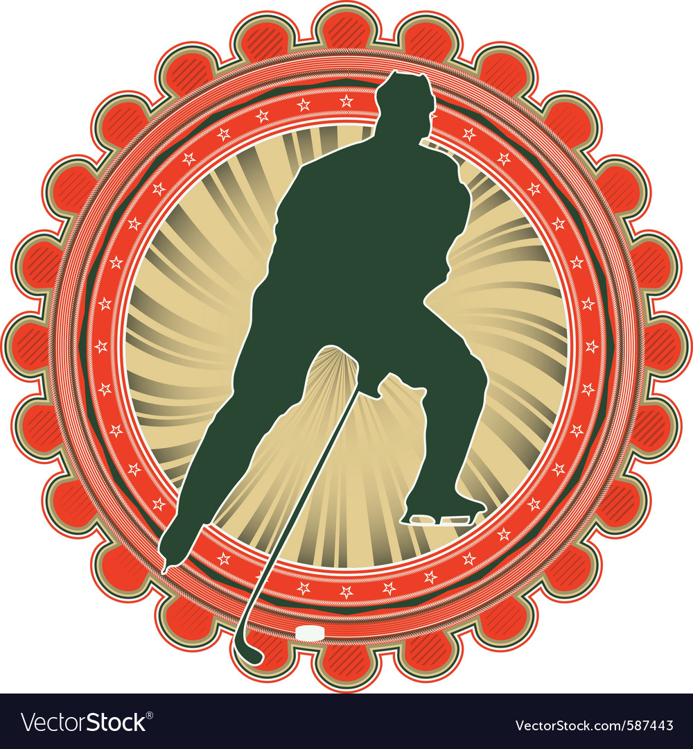 Sport emblem ice hockey vector | Price: 1 Credit (USD $1)