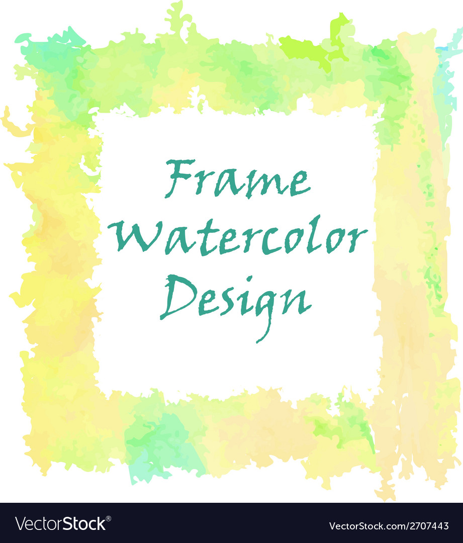Watercolor frame design vector | Price: 1 Credit (USD $1)