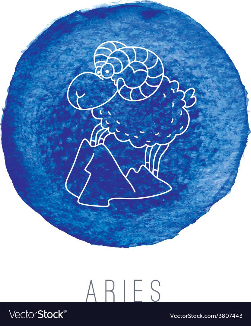 Watercolor of the ram aries vector | Price: 1 Credit (USD $1)