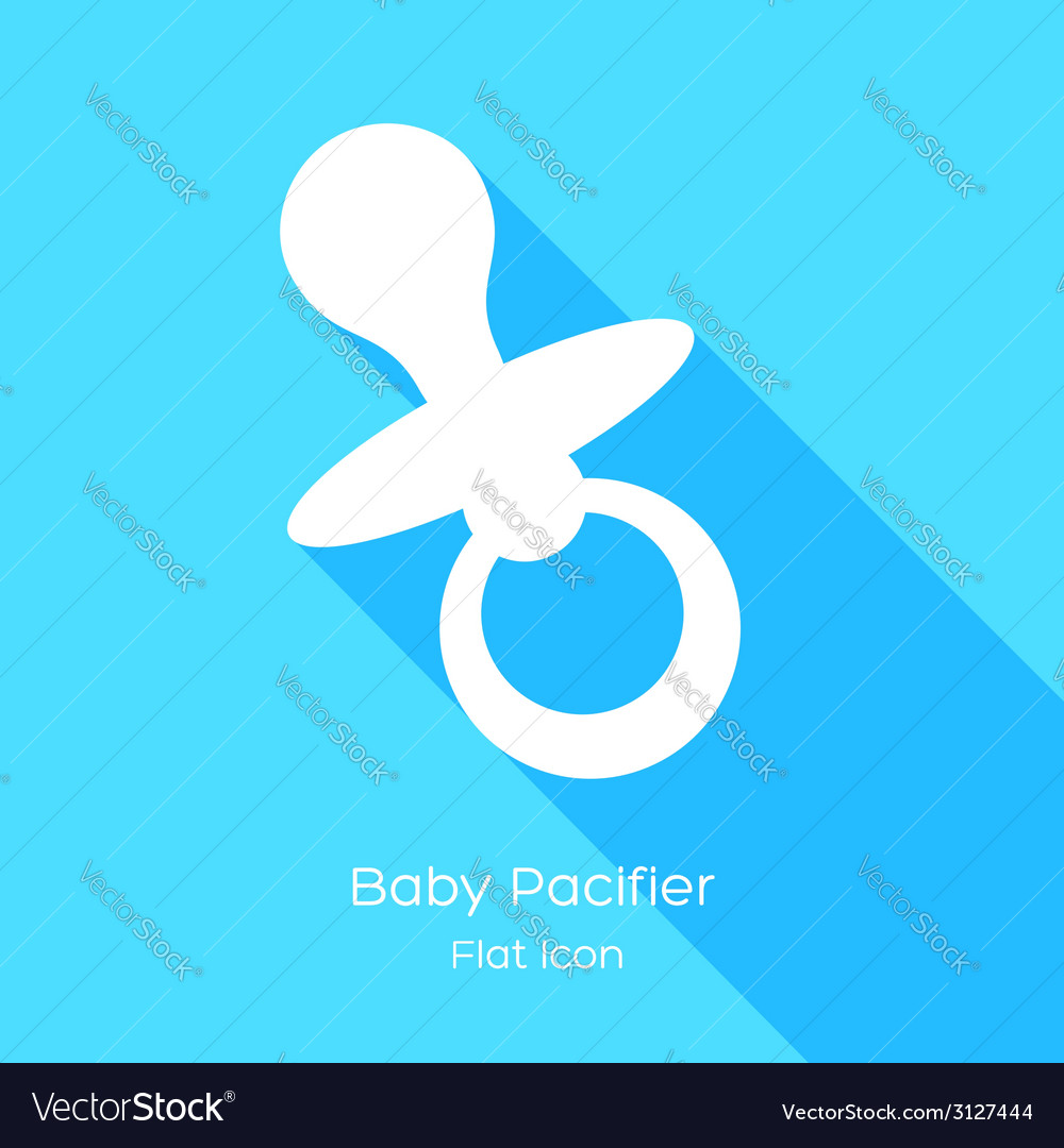 Babys dummy sign icon vector | Price: 1 Credit (USD $1)