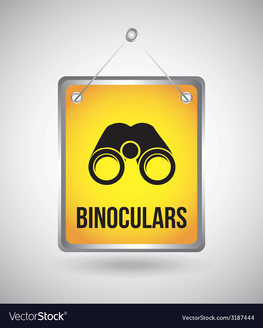 Binoculars design vector | Price: 1 Credit (USD $1)