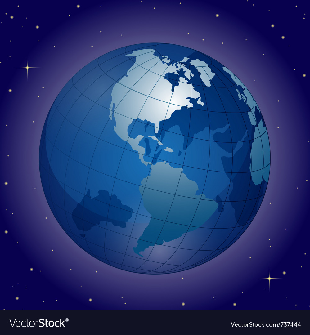 Blue globe vector | Price: 1 Credit (USD $1)