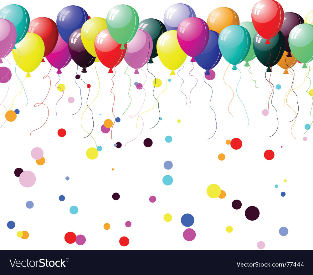 Colourful balloons with glare vector | Price: 1 Credit (USD $1)