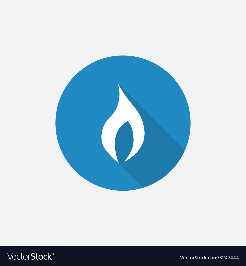Fire flat blue simple icon with long shadow vector | Price: 1 Credit (USD $1)