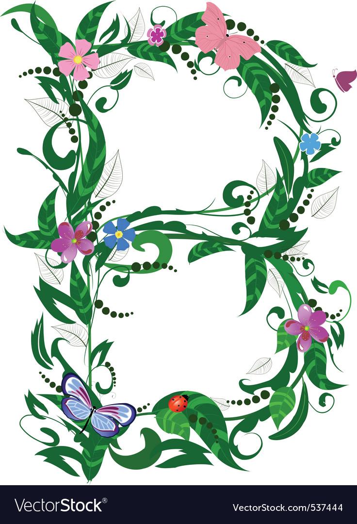 Letter flower vector | Price: 1 Credit (USD $1)