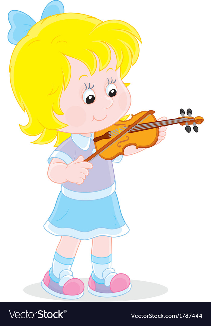 Little violinist vector | Price: 1 Credit (USD $1)