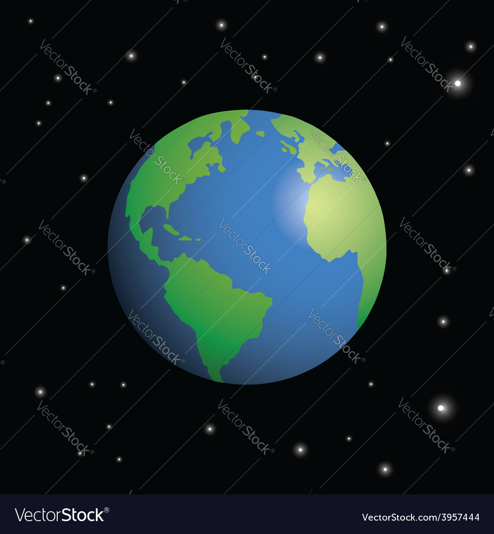 Planet earth surrounded by stars vector | Price: 1 Credit (USD $1)