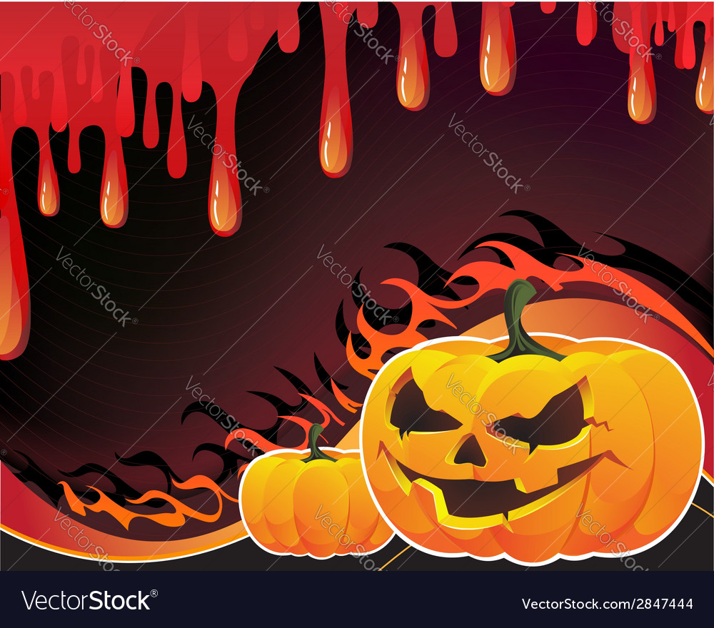 Pumpkins flame and fire vector | Price: 1 Credit (USD $1)