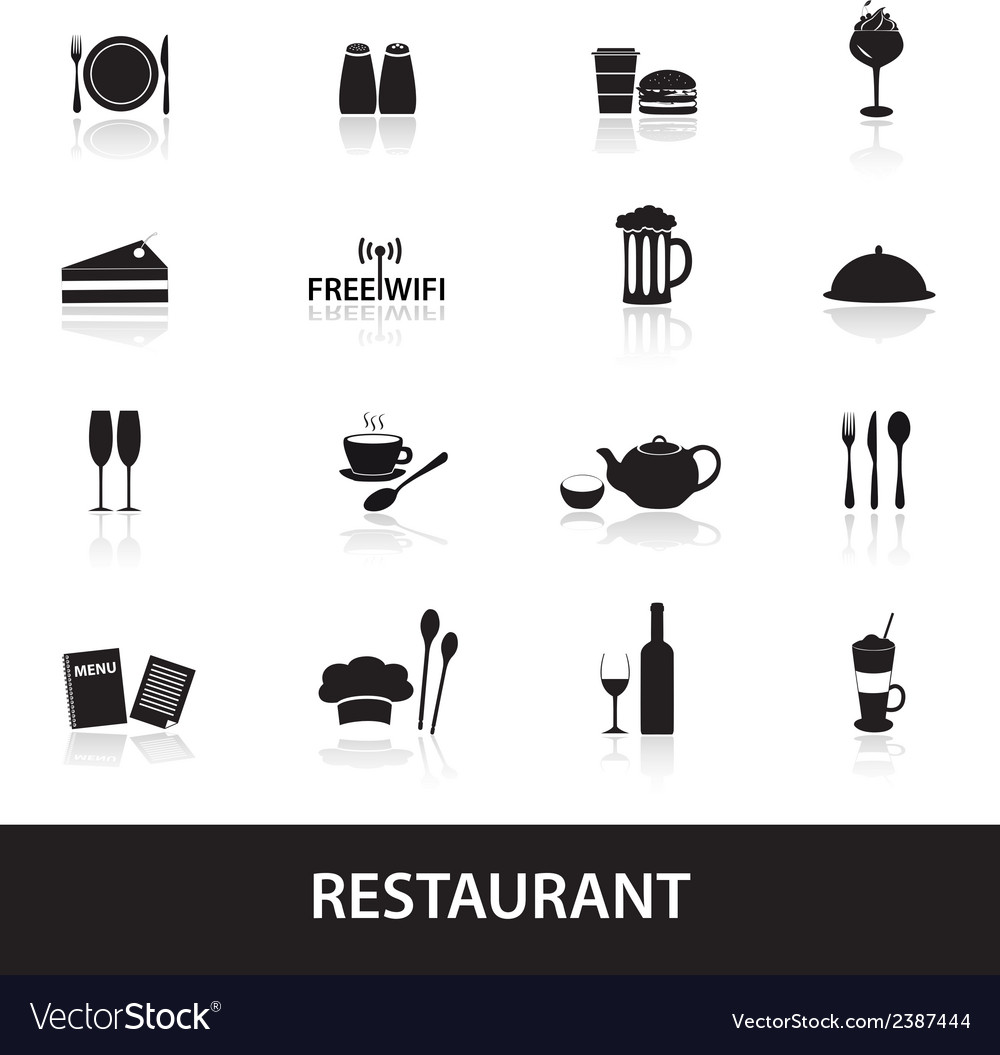 Restaurant and pub icons eps10 vector | Price: 1 Credit (USD $1)