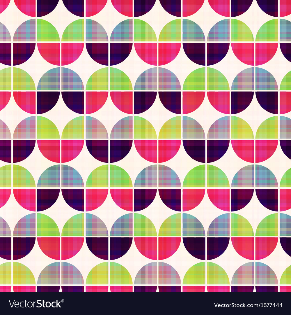 Seamless geometric circular pattern vector | Price: 1 Credit (USD $1)