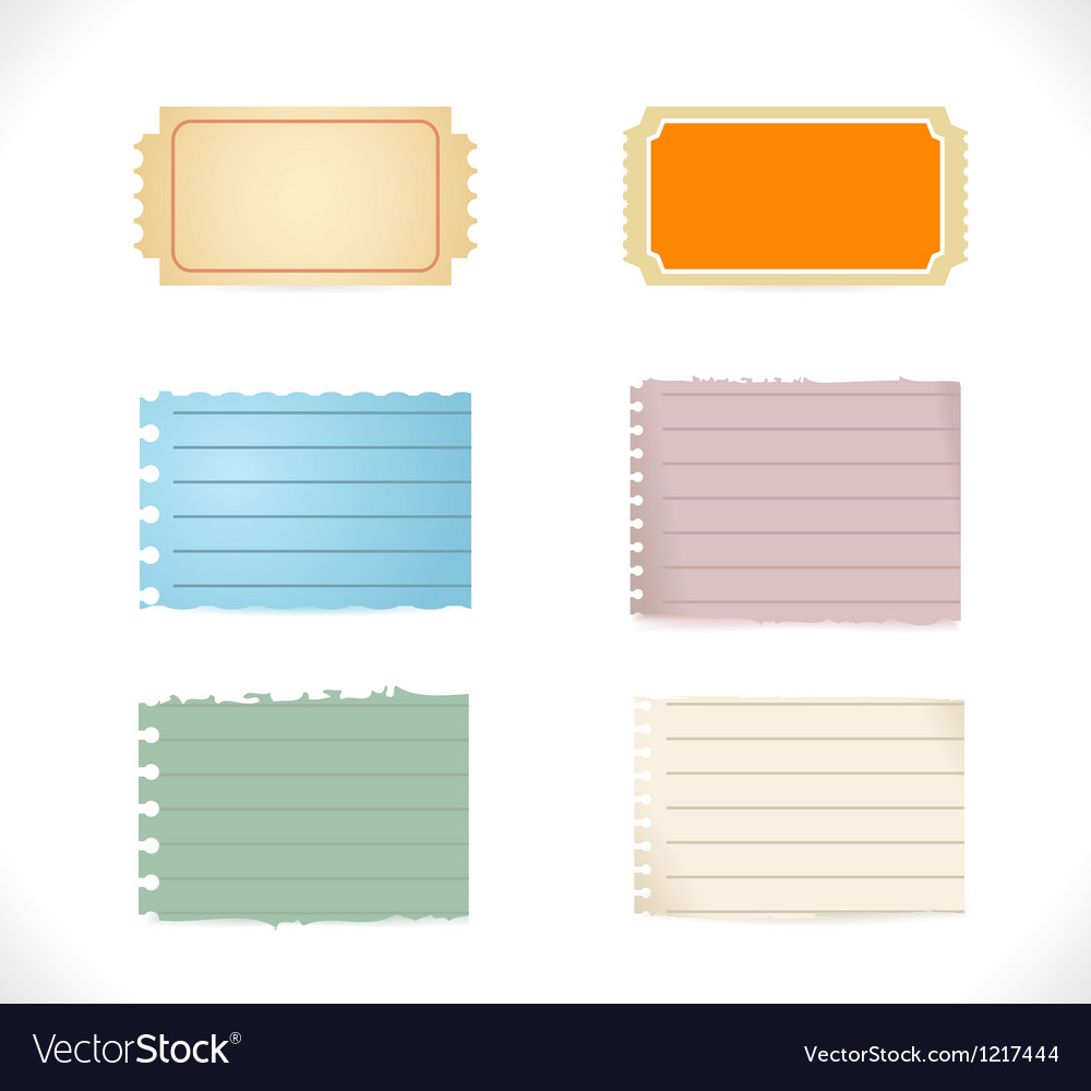 Torn blank papers vector | Price: 1 Credit (USD $1)