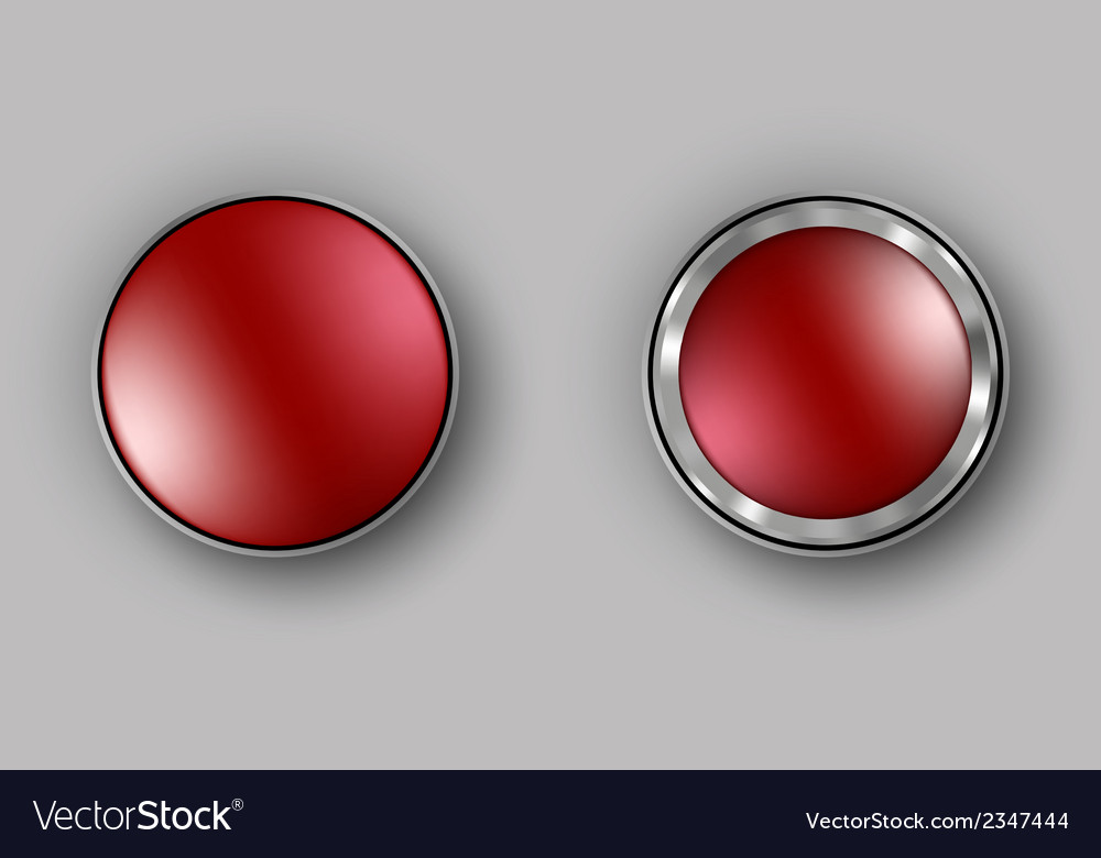 Two red buttons realistic vector | Price: 1 Credit (USD $1)