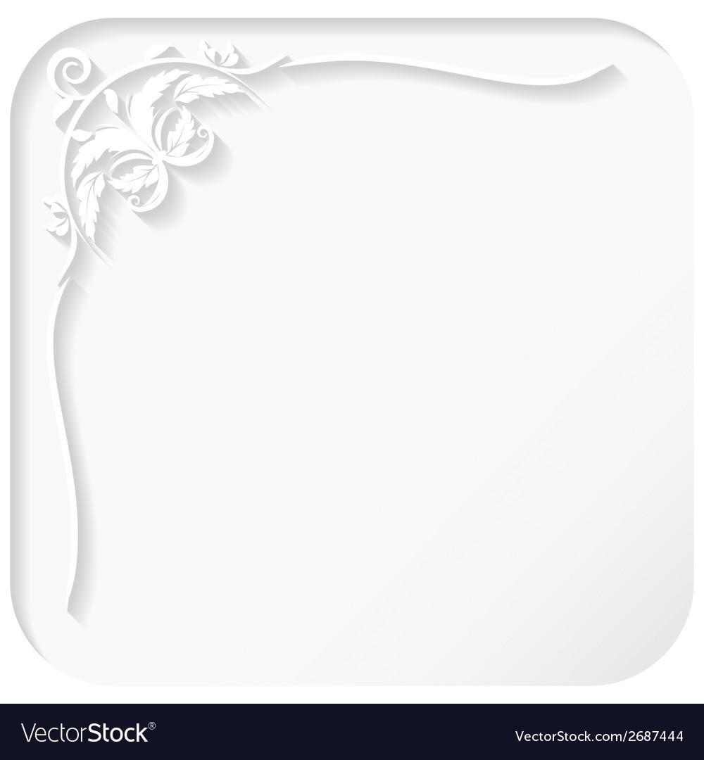White frame vector | Price: 1 Credit (USD $1)