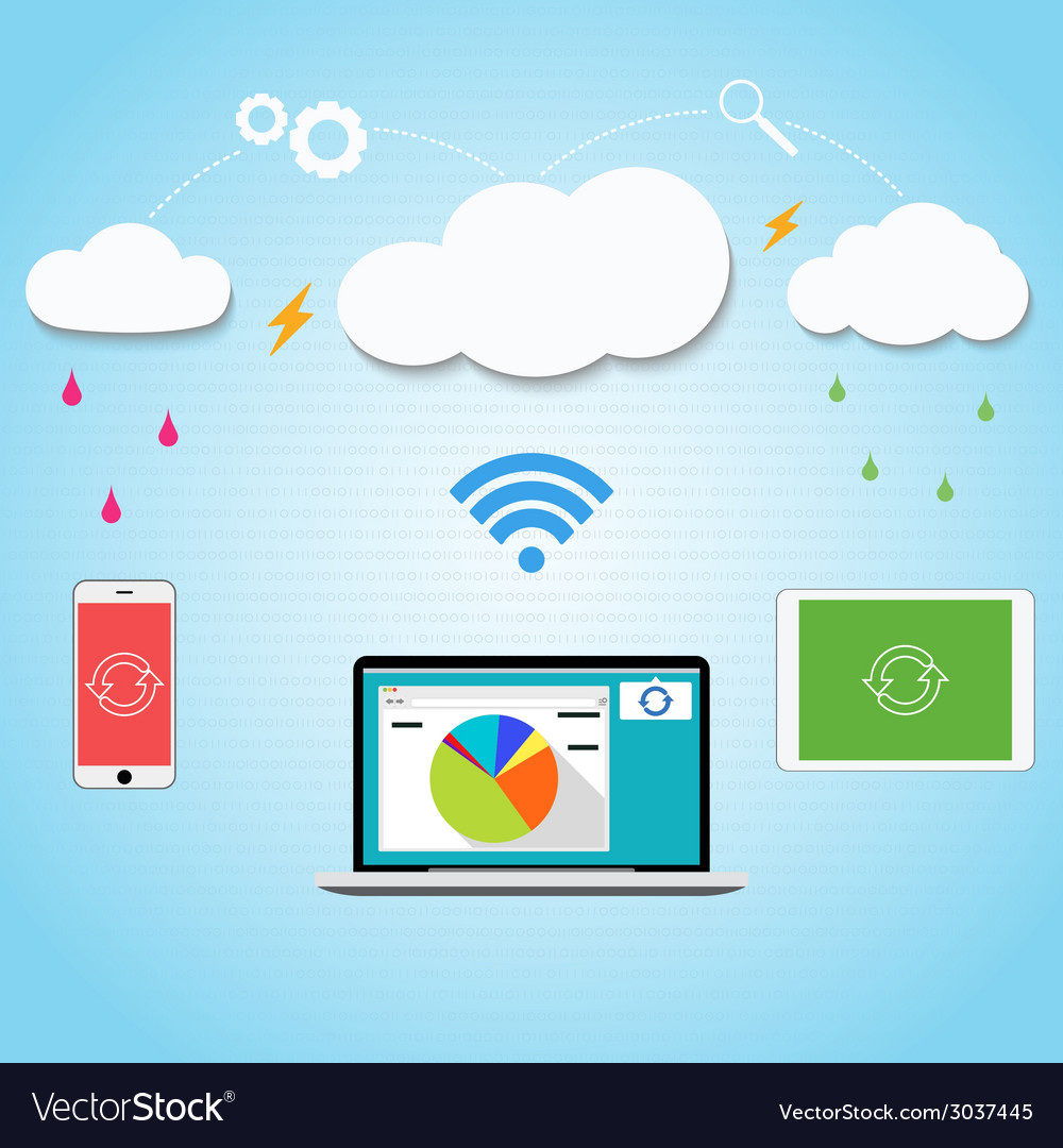 Cloud computing to your smartphone laptop and vector | Price: 1 Credit (USD $1)
