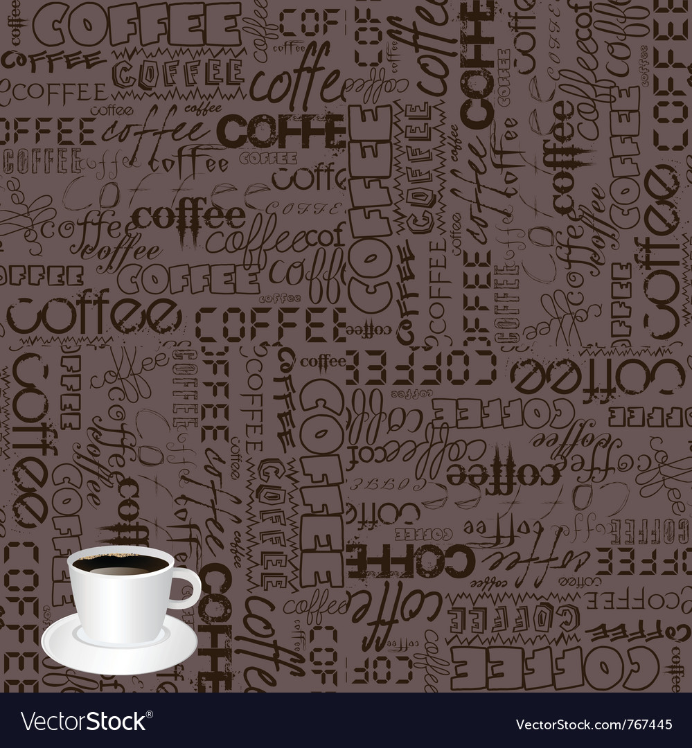 Coffee typography vector | Price: 1 Credit (USD $1)