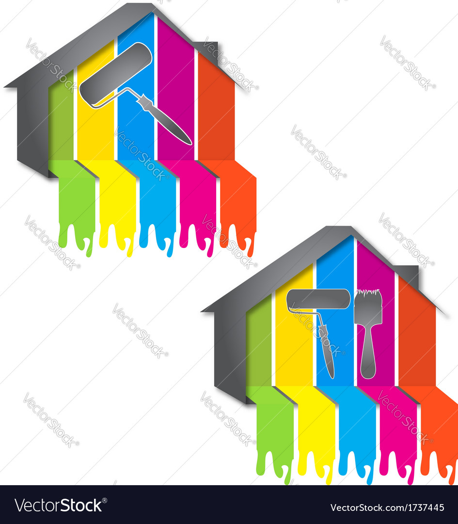 Design for painting houses vector | Price: 1 Credit (USD $1)