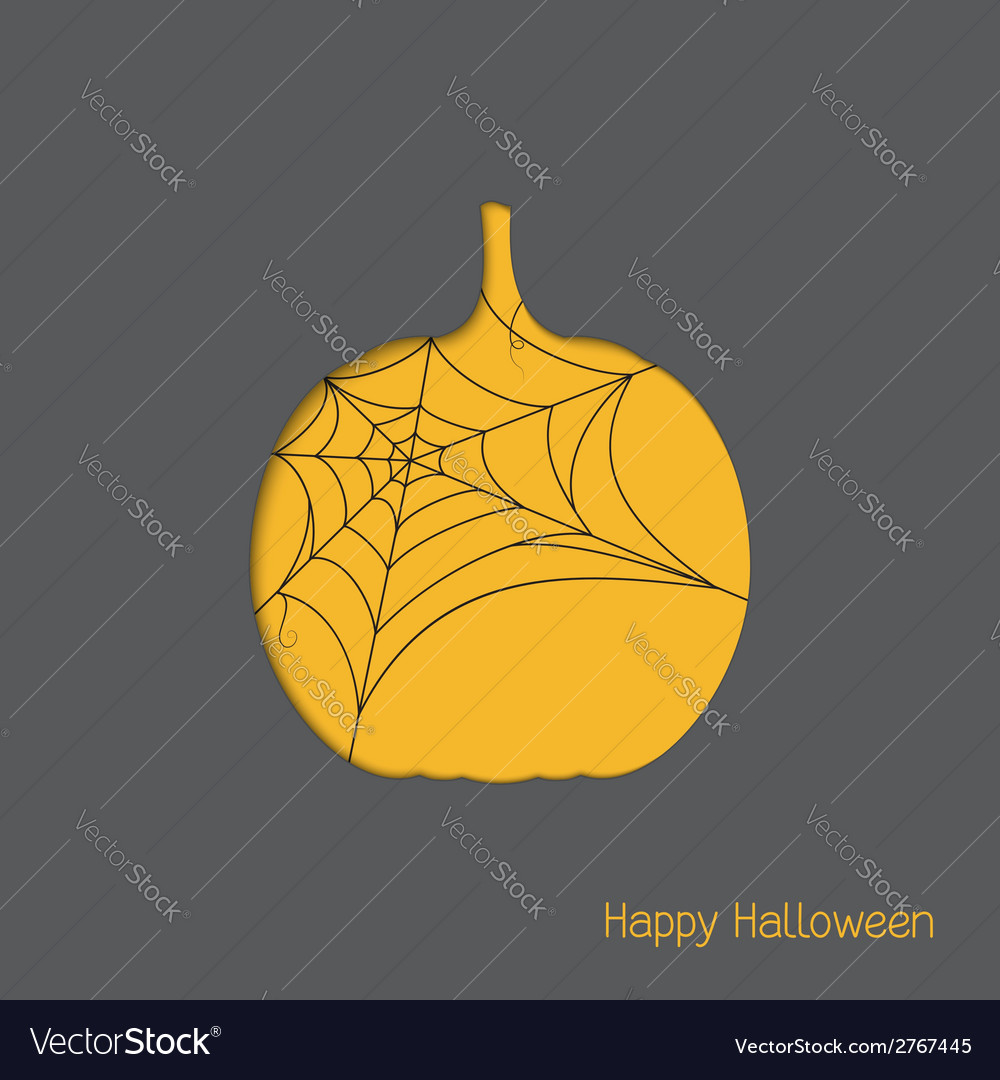 Halloween pumpkin with spider web vector | Price: 1 Credit (USD $1)