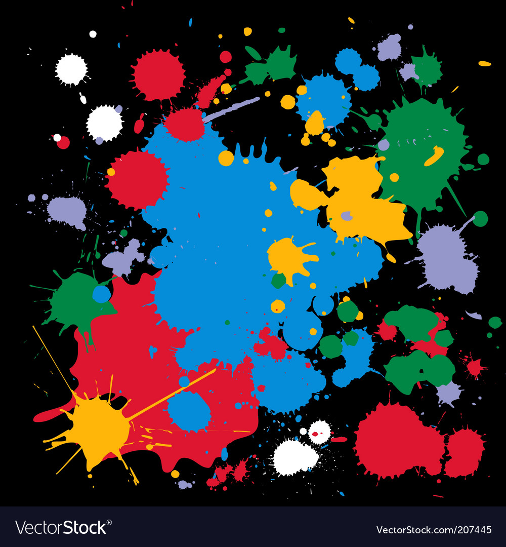 Ink splats vector | Price: 1 Credit (USD $1)